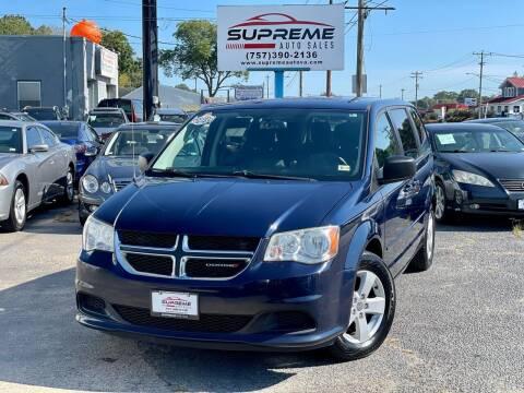 2013 Dodge Grand Caravan for sale at Supreme Auto Sales in Chesapeake VA