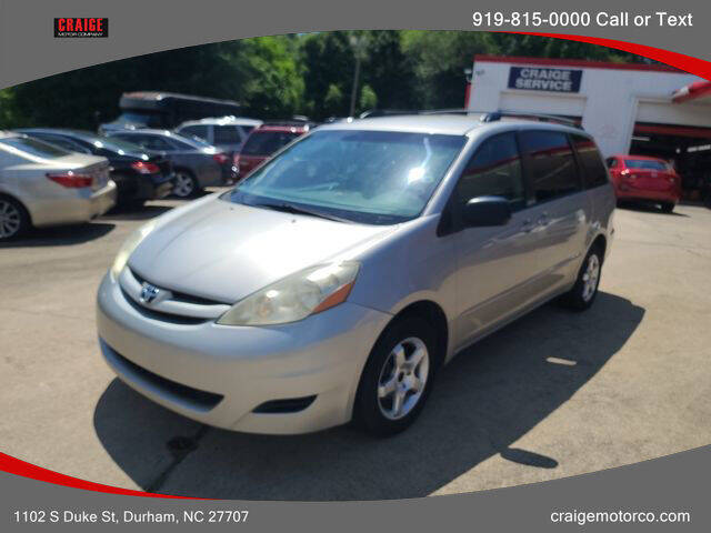 2006 Toyota Sienna for sale at CRAIGE MOTOR CO in Durham NC