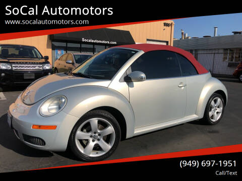 2009 Volkswagen New Beetle Convertible for sale at SoCal Automotors in Costa Mesa CA