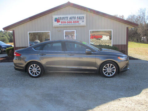 2017 Ford Fusion for sale at Granite Auto Sales in Redgranite WI