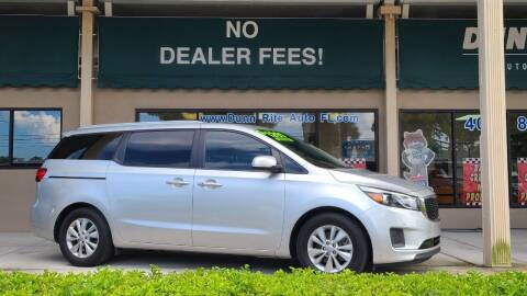 2018 Kia Sedona for sale at Dunn-Rite Auto Group in Longwood FL