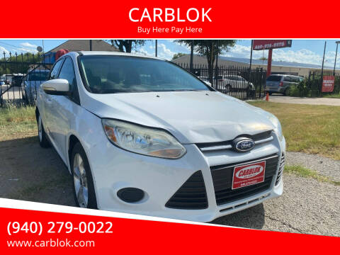 2013 Ford Focus for sale at CARBLOK in Lewisville TX