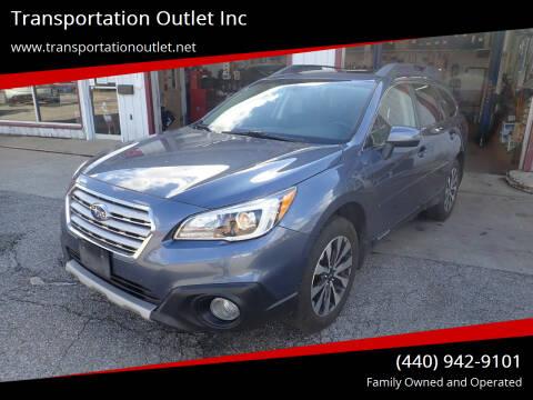 2016 Subaru Outback for sale at Transportation Outlet Inc in Eastlake OH
