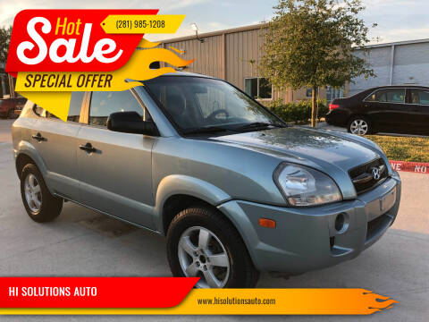 2007 Hyundai Tucson for sale at HI SOLUTIONS AUTO in Houston TX