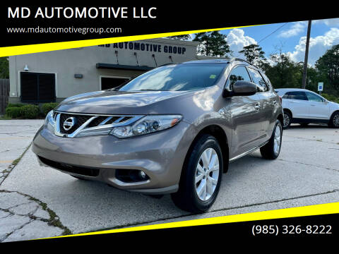 2013 Nissan Murano for sale at MD AUTOMOTIVE LLC in Slidell LA