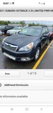 2011 Subaru Outback for sale at Superior Auto Sales in Miamisburg OH