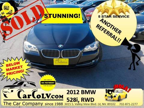 2012 BMW 5 Series for sale at The Car Company in Las Vegas NV