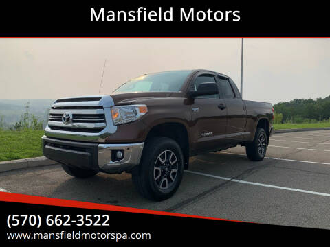 2017 Toyota Tundra for sale at Mansfield Motors in Mansfield PA