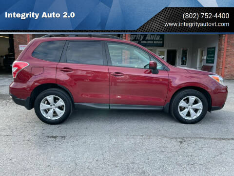 2015 Subaru Forester for sale at Integrity Auto 2.0 in Saint Albans VT