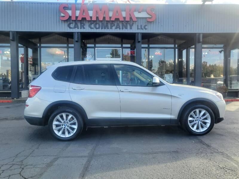 2016 BMW X3 for sale at Siamak's Car Company llc in Salem OR
