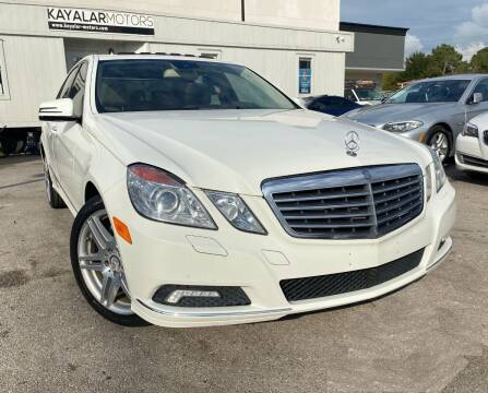 2010 Mercedes-Benz E-Class for sale at KAYALAR MOTORS in Houston TX