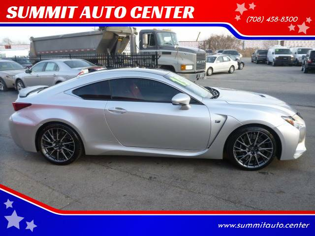 2015 Lexus RC F for sale at SUMMIT AUTO CENTER in Summit IL