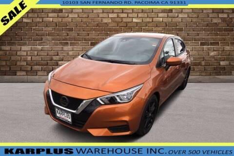 2020 Nissan Versa for sale at Karplus Warehouse in Pacoima CA