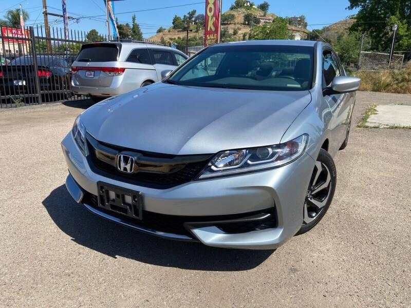 2016 Honda Accord for sale at Vtek Motorsports in El Cajon CA