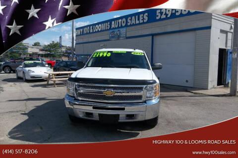 2012 Chevrolet Silverado 1500 for sale at Highway 100 & Loomis Road Sales in Franklin WI