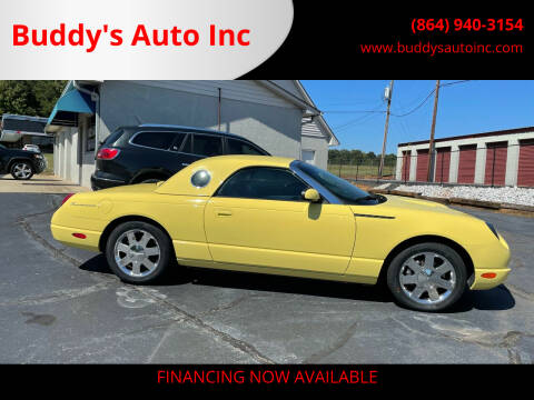 2002 Ford Thunderbird for sale at Buddy's Auto Inc in Pendleton, SC