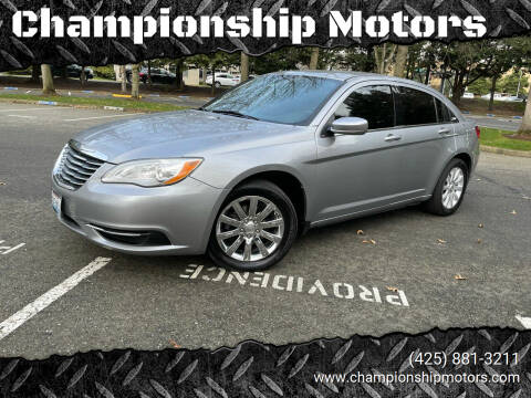 2013 Chrysler 200 for sale at Championship Motors in Redmond WA