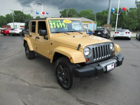 2013 Jeep Wrangler Unlimited for sale at Auto Land Inc in Crest Hill IL