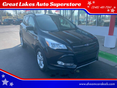 2016 Ford Escape for sale at Great Lakes Auto Superstore in Pontiac MI