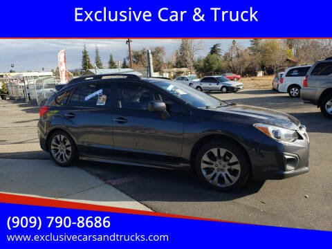 2014 Subaru Impreza for sale at Exclusive Car & Truck in Yucaipa CA