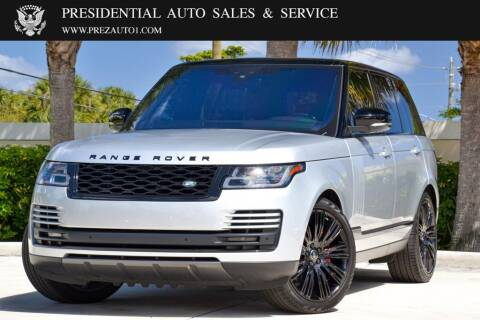 2018 Land Rover Range Rover for sale at Presidential Auto  Sales & Service in Delray Beach FL
