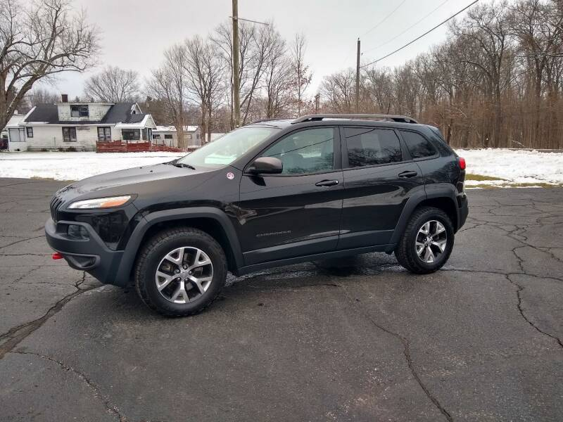 2016 Jeep Cherokee for sale at Depue Auto Sales Inc in Paw Paw MI