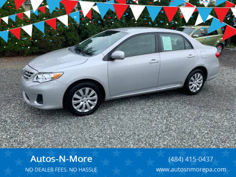 2013 Toyota Corolla for sale at Autos-N-More in Gilbertsville PA