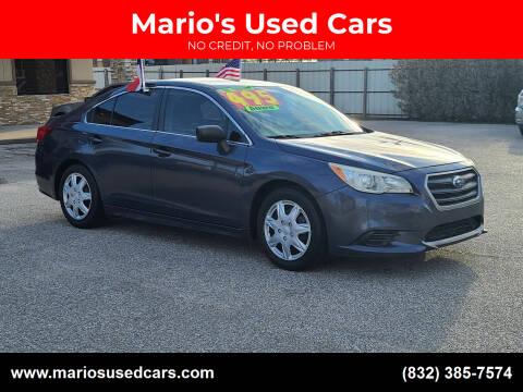 2015 Subaru Legacy for sale at Mario's Used Cars - Pasadena Location in Pasadena TX