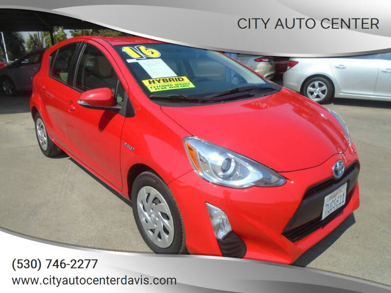 2016 Toyota Prius c for sale at City Auto Center in Davis CA