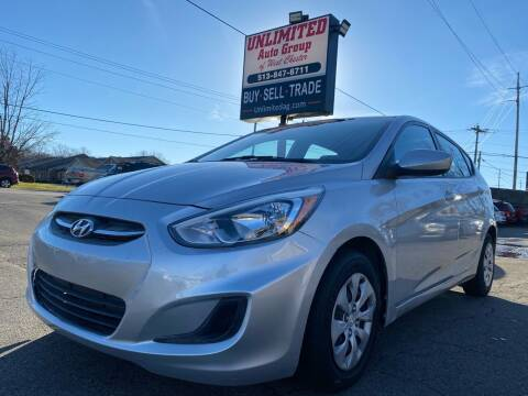 2016 Hyundai Accent for sale at Unlimited Auto Group in West Chester OH