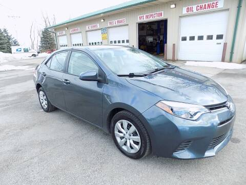 2016 Toyota Corolla for sale at SUMMIT TRUCK & AUTO INC in Akron NY