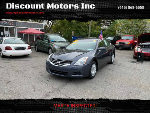 2010 Nissan Altima for sale at Discount Motors Inc in Madison TN
