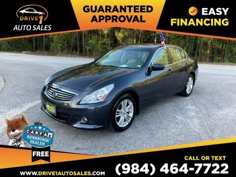 2011 Infiniti G37 Sedan for sale at Drive 1 Auto Sales in Wake Forest NC
