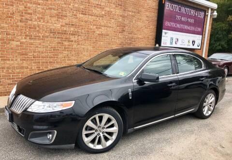 2009 Lincoln MKS for sale at Exotic Motors 4 Less in Chesapeake VA