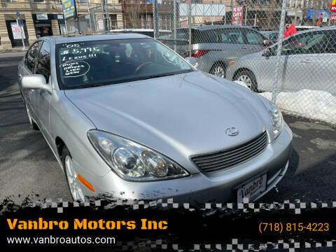 2005 Lexus ES 330 for sale at Vanbro Motors Inc in Staten Island NY