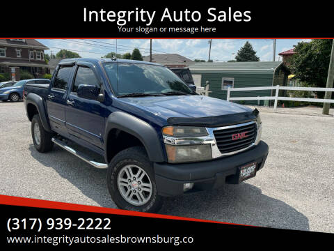 2009 GMC Canyon for sale at Integrity Auto Sales in Brownsburg IN