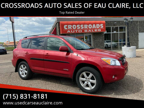 2008 Toyota RAV4 for sale at CROSSROADS AUTO SALES OF EAU CLAIRE, LLC in Eau Claire WI