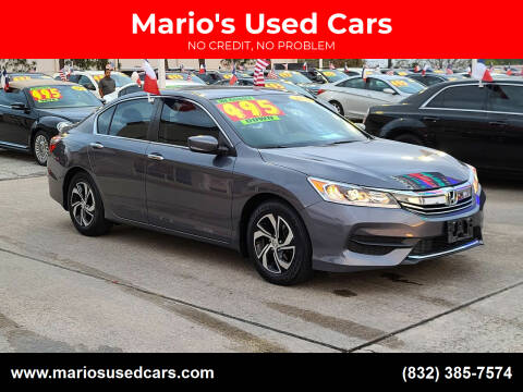 2016 Honda Accord for sale at Mario's Used Cars in Houston TX