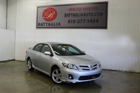 2013 Toyota Corolla for sale at Battaglia Auto Sales in Plymouth Meeting PA