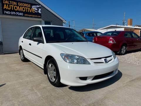 2004 Honda Civic for sale at Dalton George Automotive in Marietta OH