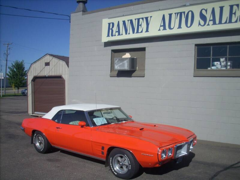 1969 Pontiac Firebird for sale at Ranney's Auto Sales in Eau Claire WI