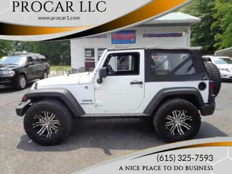 2011 Jeep Wrangler for sale at PROCAR LLC in Portland TN