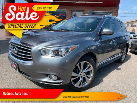 2015 Infiniti QX60 for sale at Nations Auto Inc. in Denver CO