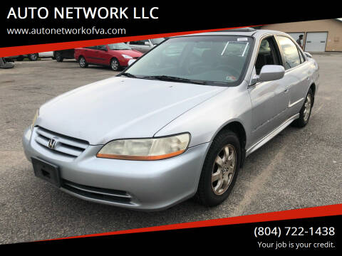 2001 Honda Accord for sale at AUTO NETWORK LLC in Petersburg VA