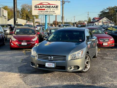 2010 Nissan Maxima for sale at Supreme Auto Sales in Chesapeake VA