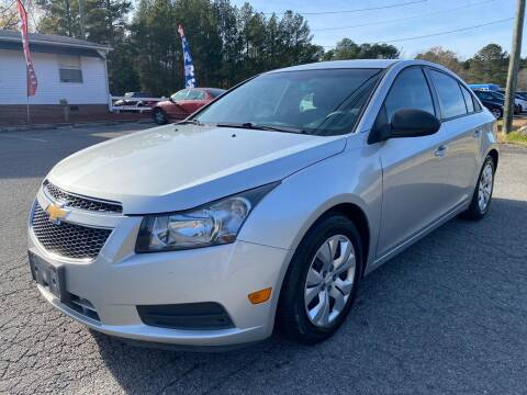 2013 Chevrolet Cruze for sale at CVC AUTO SALES in Durham NC