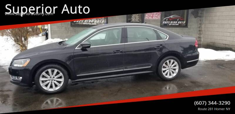 2012 Volkswagen Passat for sale at Superior Auto in Cortland NY