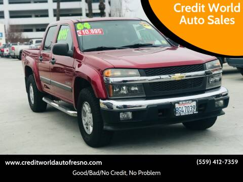 2004 Chevrolet Colorado for sale at Credit World Auto Sales in Fresno CA