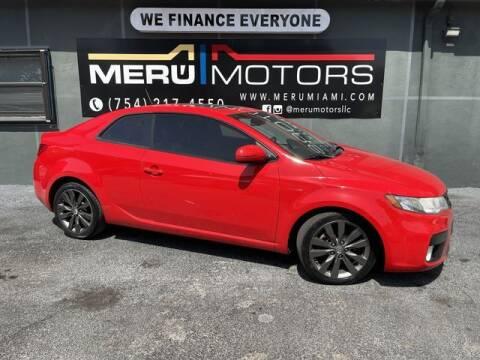 2011 Kia Forte Koup for sale at Meru Motors in Hollywood FL