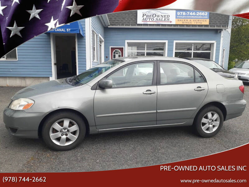 2003 Toyota Corolla for sale at Pre-Owned Auto Sales Inc in Salem MA